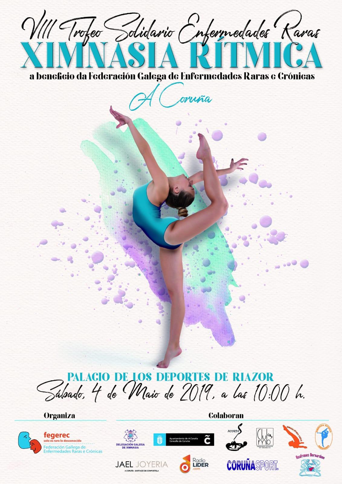 cartel trofeo de gimnasia ritmica a favor de las enfermedades raras 2019